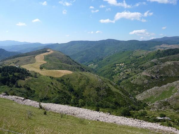 Les Cévennes près d'Anduze